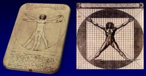 Fig. 2 Umanizzazione come armonia. L'uomo di Vitruvio secondo Leonardo e Cesariano