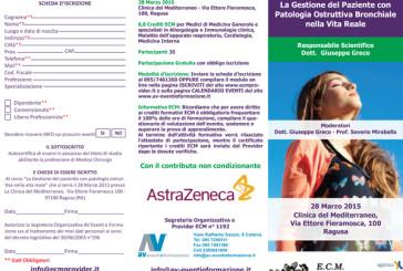 La Gestione del Paziente con  Patologia Ostruttiva Bronchiale  nella Vita Reale