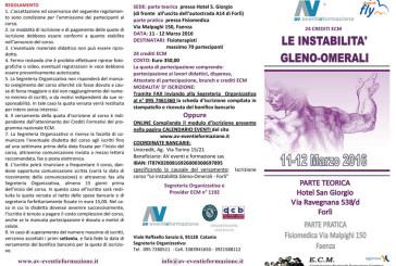 LE INSTABILITA' GLENO-OMERALI