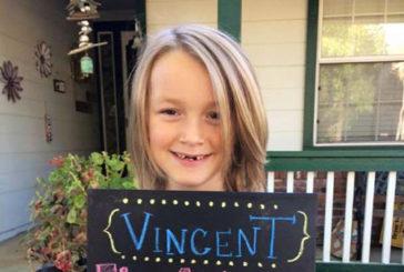Commovente storia di Vinny. Aveva donato capelli a piccoli malati, ora combatte il cancro
