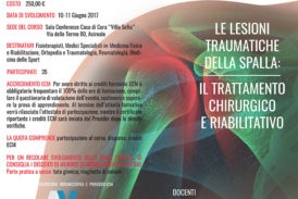 Le lesioni traumatiche della spalla – Il trattamento chirurgico e riabilitativo