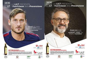 Totti e Bottura testimonial per settimana prevenzione tumori