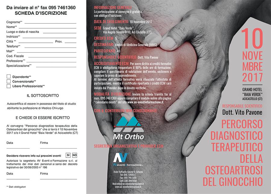 Percorso diagnostico terapeutico della Osteoartrosi del ginocchio