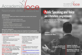 Public Speaking and Voice per il relatore congressuale