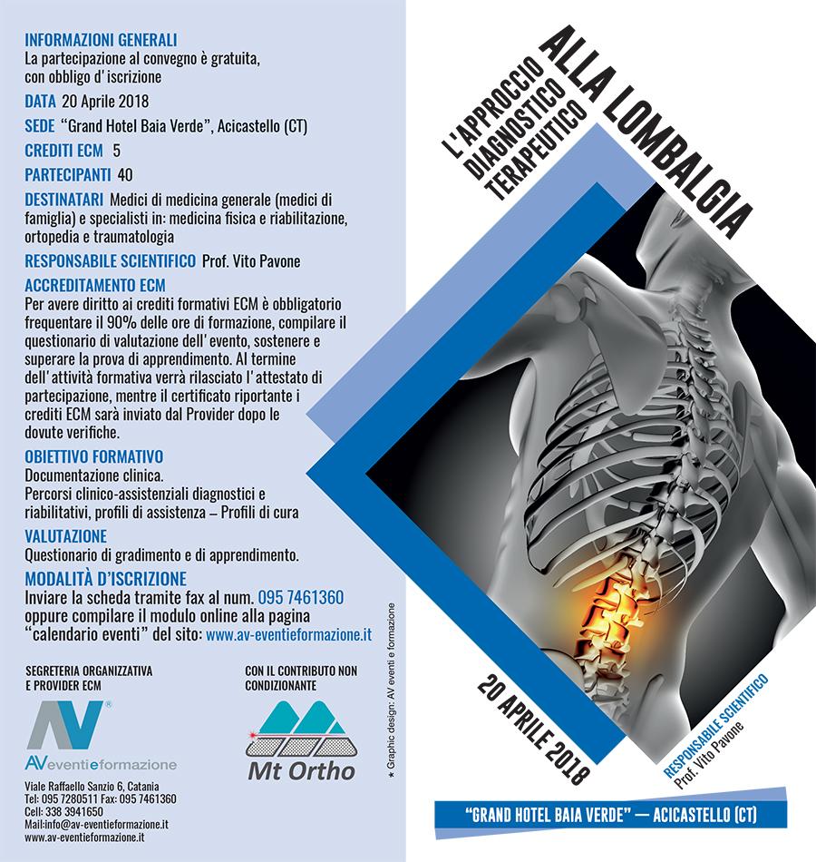 L'approccio diagnostico terapeutico alla Lombalgia