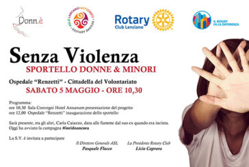 """""""Senza violenza"""", a Lanciano apre lo sportello del Rotary per donne e minori"""