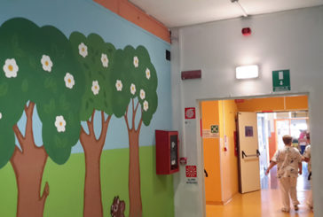 La pediatria come un bosco incantato grazie al murales di ABIO Vercelli