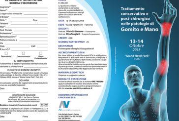 Trattamento conservativo e post-chirurgico nelle patologie di gomito-mano