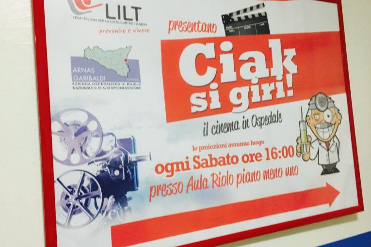 Ciak si gira - Cinema all'ospedale Garibaldi per i malati a Catania