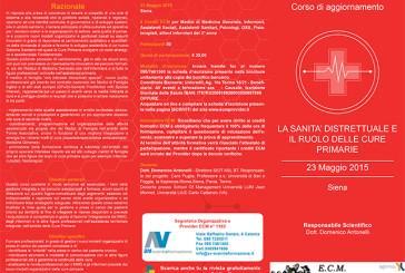 La sanità distrettuale e il ruolo delle cure primarie – Siena