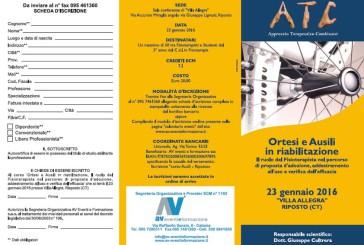 Corso ATC – Ortesi e Ausili in riabilitazione
