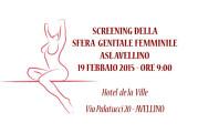 19 Febbario 2015 – Screening della sfera genitale femminile ASL Avellino