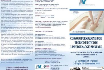 Corso di formazione base teorico pratico di linfodrenaggio manuale
