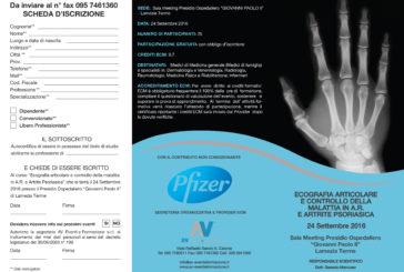 Ecografia Articolare e controllo della malattia in A.R. E Artrite Psoriasica