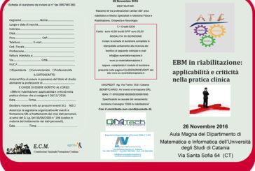 EBM in riabilitazione: applicabilità e criticità nella pratica clinica