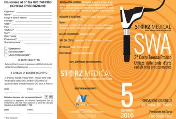 SWA – 2° Corso Teorico-Pratico – Utilizzo delle onde d'urto radiali nella pratica medica