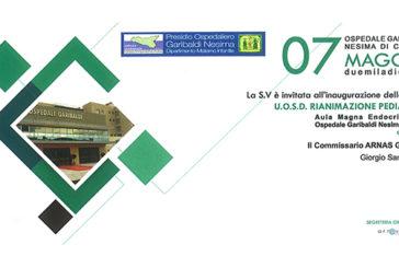 Garibaldi Nesima: inaugurata ieri mattina la nuova Rianimazione Pediatrica