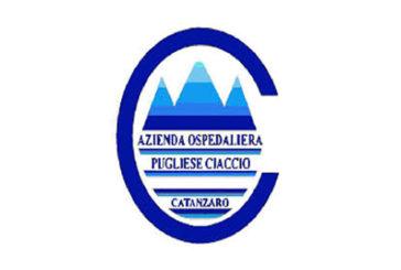 A.O. «Pugliese-Ciaccio» di Catanzaro (Scad. 23 settembre 2018)