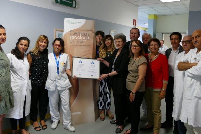 Alcuni membri dello staff della Breast Unit dell'Azienda USL di Modena-2