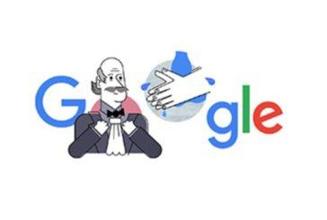 Google dedica il suo doodle a Ignaz Semmelweis,il medico che insegnò a lavarsi le mani