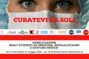 A Roma protesta giovani medici, muovono rabbia ed esasperazione