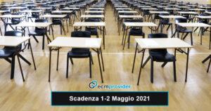 scadenza concorsi 1-2 Maggio 2021