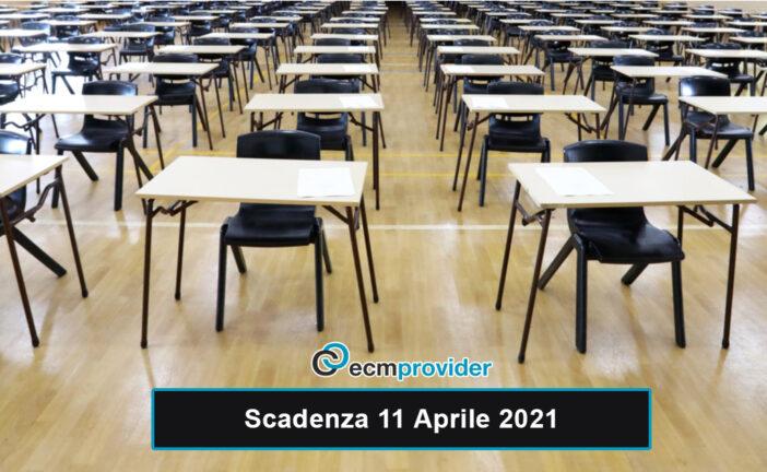 Scadenza concorsi: 11 Aprile 2021